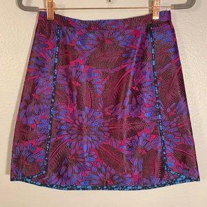 NWOT J Crew Vibrant Stitched Floral A Line Skirt